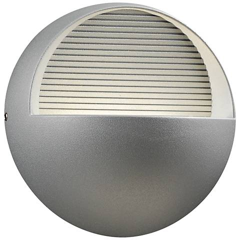 "Tummi 6 1/2"" High Silver Outdoor 3-LED Wall Light"