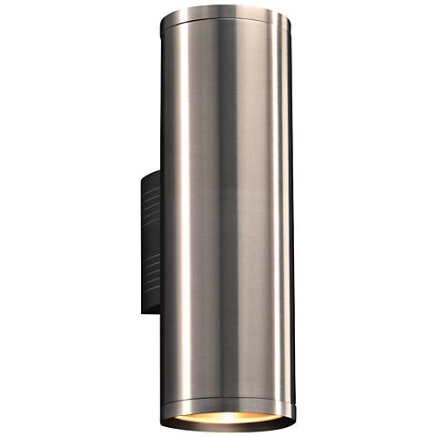 """Marco 15 1/2""""H Brushed Aluminum 2-LED Outdoor Wall Light"""