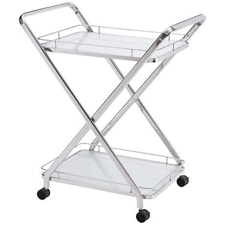 Zuo Vesuvius Stainless Steel 2-Shelf Serving Cart