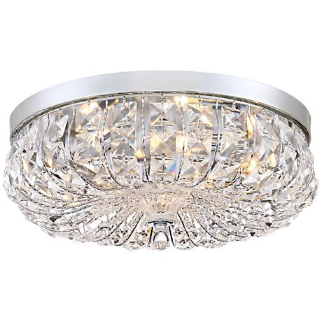 "Lovell 16 1/4"" Wide Chrome and Crystal Ceiling Light"