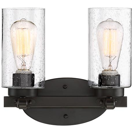 How High To Place Wall Sconces : Holman Bronze 2-Light 10 3/4