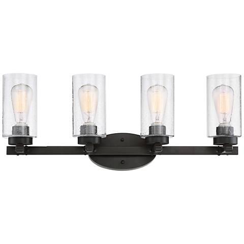 """Holman Bronze 4-Light 27 1/4"""" Wide Industrial Bath Light"""