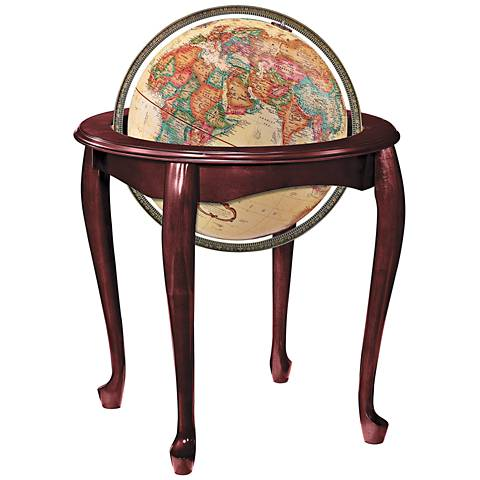 Replogle Queen Anne Antique Ocean Standing Globe