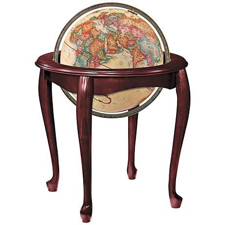 Replogle Queen Anne Antique Ocean Standing Globe