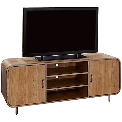Moderne Muse Bisque 2-Door Waterfall Media Console
