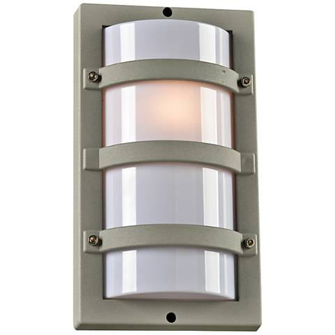 "Spa 12 1/2"" High Silver Tall Outdoor Wall Light"