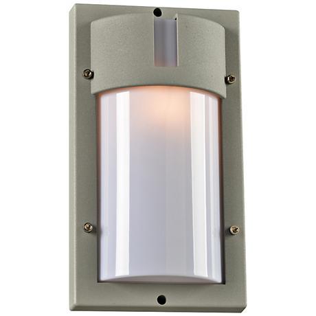 """Jedi 12 1/2"""" High Tall Silver Outdoor Wall Light"""