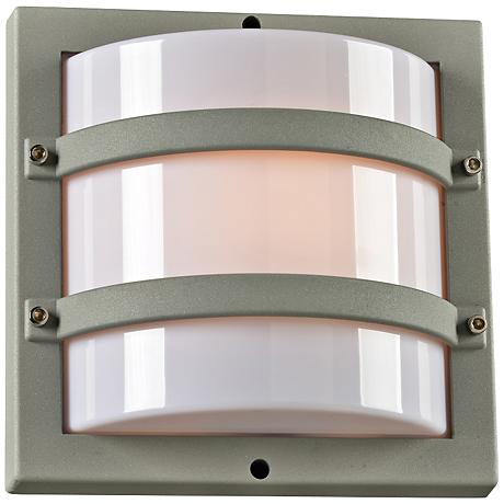 "Spa 9 1/2"" High Silver Short Outdoor Wall Light"