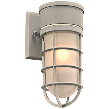 """Cage 10"""" High Silver Outdoor Wall Light"""