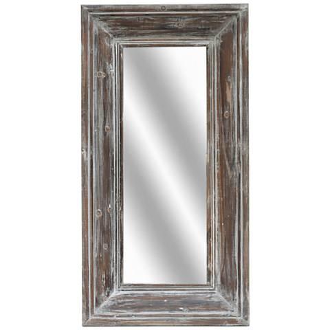"""Dustin Reclaimed Wood 22""""x42"""" Decorative Tall Mirror"""