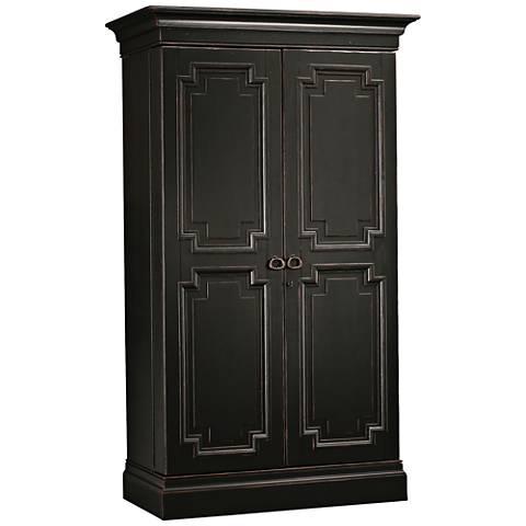 Sambuca Worn Black 2-Door Wine and Bar Cabinet