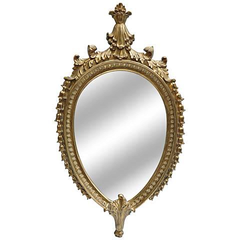 "Myrna Gold Leaf 27""x48"" Decorative Wall Mirror"