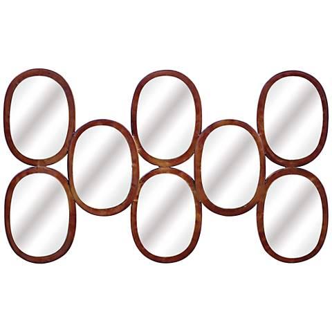 "Melva Rust 21 1/4""x35 3/4"" Accent Wall Mirror"
