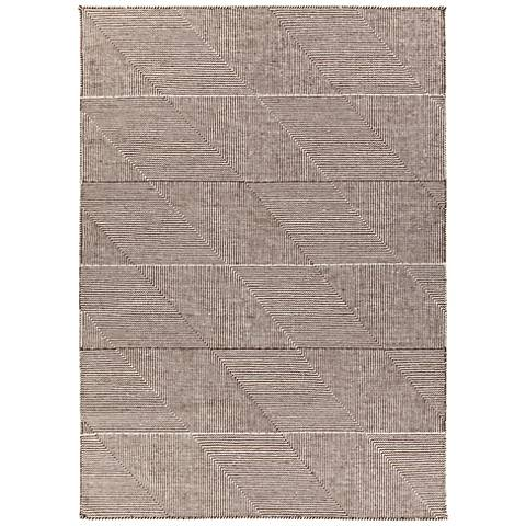 Chandra Bristol Brown and White Wool Area Rug