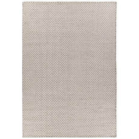 Chandra Bristol Gray and White Wool Area Rug