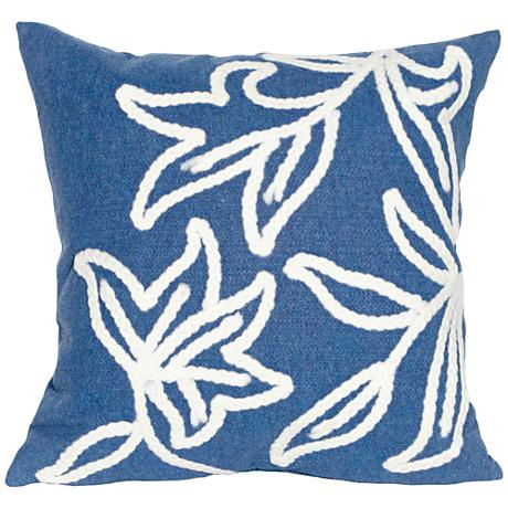 """Visions I Windsor Blue 20"""" Square Outdoor Throw Pillow"""