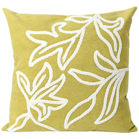 "Visions I Windsor Lime 20"" Throw Indoor-Outdoor Pillow"