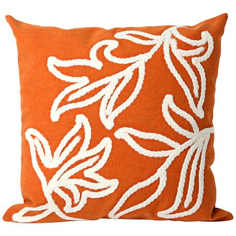 "Visions I Windsor Orange 20"" Square Outdoor Throw Pillow"