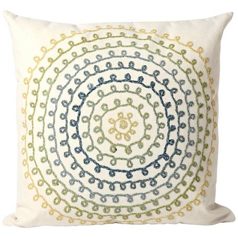"""Visions II Ombre Threads Cool 20"""" Indoor-Outdoor Pillow"""