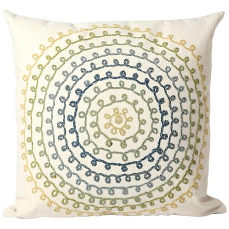 """Visions II Ombre Threads Cool 20"""" Square Outdoor Pillow"""