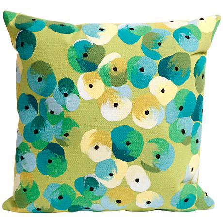 "Visions II Pansy Lime 20"" Square Outdoor Throw Pillow"