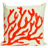 """Visions II Coral Red 20"""" Square Indoor-Outdoor Pillow"""
