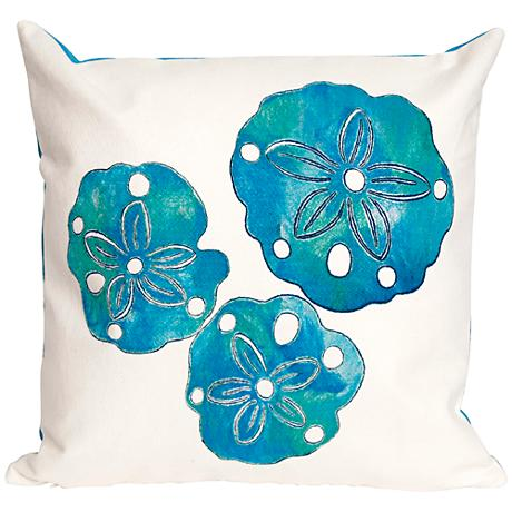 """Visions II Sand Dollar Pearl 20"""" Square Outdoor Throw Pillow"""