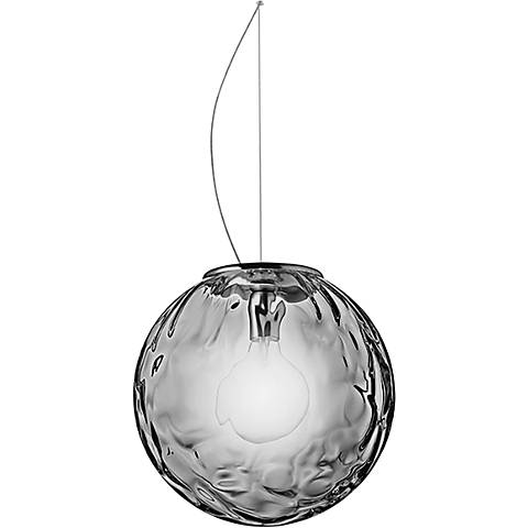 "Eurofase Borgo 17 3/4""W Chrome and Smoke Glass Pendant Light"