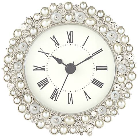 "Avanton Pearl 4 1/4"" Wide Table Clock"