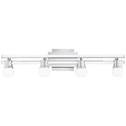 "Possini Euro Bandeaux 25 3/4""W 4-Light Chrome LED Bath Light"