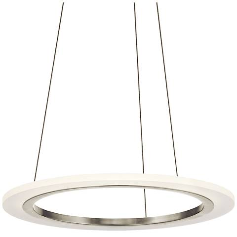 "Elan Hyvo 19 1/2""W Brushed Nickel LED Ring Pendant Light"