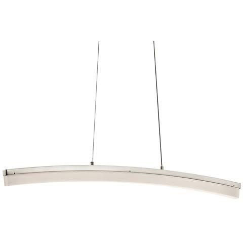 "Elan Valencia 39 1/2""W Brushed Nickel Linear LED Pendant"