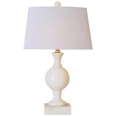 jade sphere small white table lamp 9k594 lamps plus. Black Bedroom Furniture Sets. Home Design Ideas