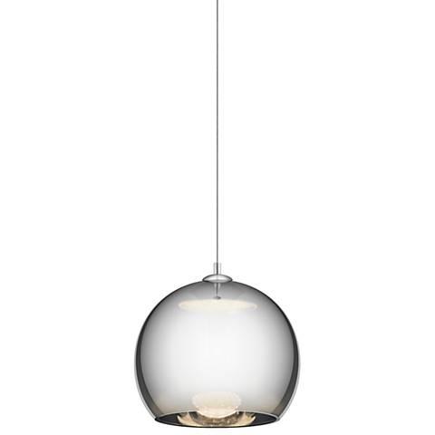 """Elan Rendo 11 3/4"""" Wide LED Chrome Mini Pendant Light"""
