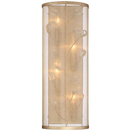 """Sara's Jewel 18"""" High Champagne Silver Wall Sconce"""