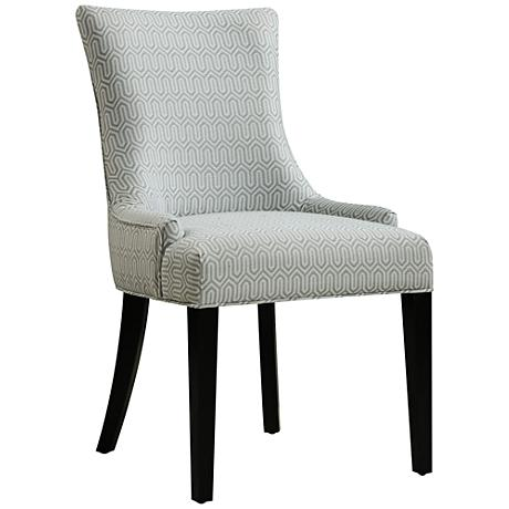DuPres Geo Mist Light Blue Armless Dining Chair