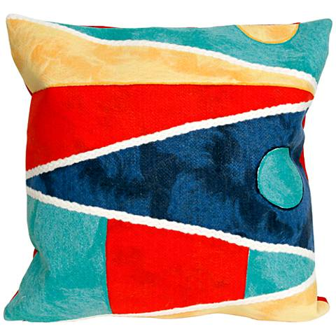 """Visions II Flags Multi-Color 20"""" Square Outdoor Throw Pillow"""