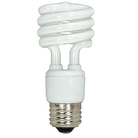 13 Watt Mini Spiral T2 Medium Base CFL Bulb