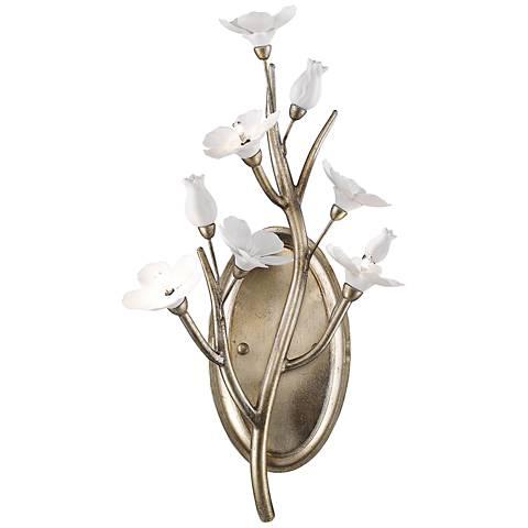 "Aiyana 18 3/4"" High Silver Leaf 1-Light Wall Sconce"