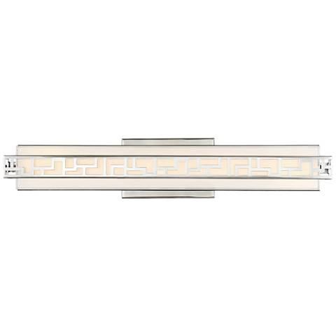"Possini Euro Searles 24"" Wide Contemporary LED Bath Light"