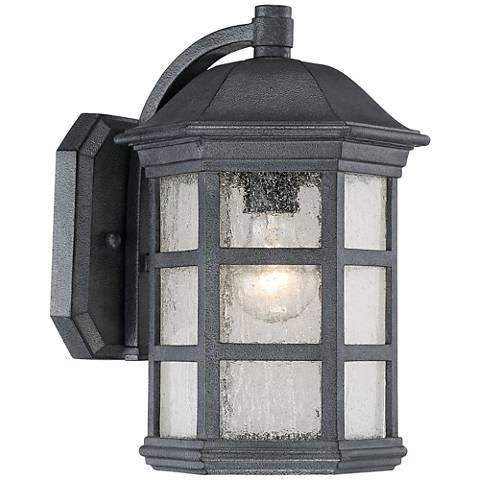 "Benedict 13"" High Textured Charcoal Outdoor Wall Light"