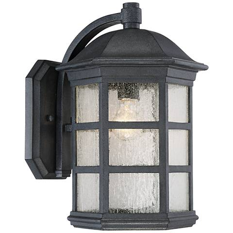 "Benedict 16 1/2"" High Textured Charcoal Outdoor Wall Light"
