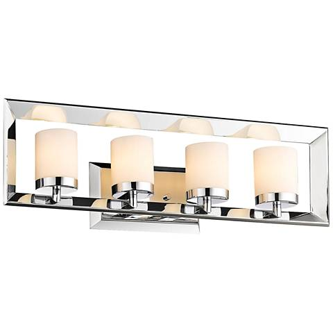 "Smyth II 24 1/2"" Wide 4-Light Chrome Bath Light"
