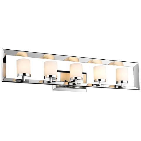 "Smyth II 33 3/4"" Wide 5-Light Chrome Bath Light"