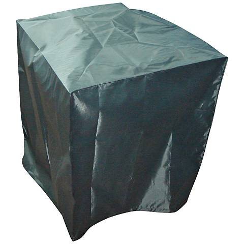"Heavy Duty Black 29"" High Small Outdoor Fountain Cover"