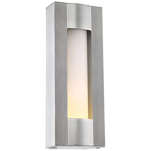 """Carrizo 18 1/4"""" High Matte Nickel LED Outdoor Wall Light"""