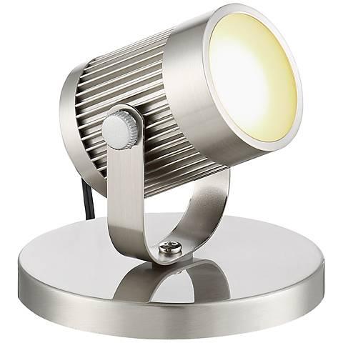 "Downey Brushed Steel 2 3/4"" High LED Uplight"