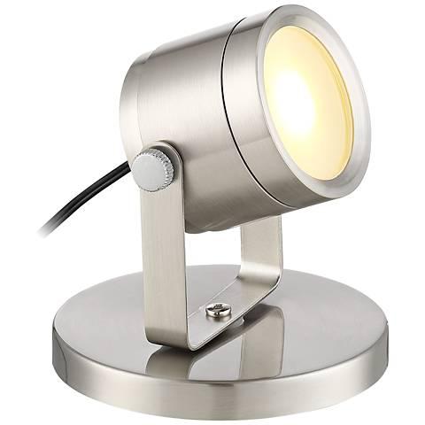 """Ladera Brushed Steel 3 1/2"""" High LED Uplight"""