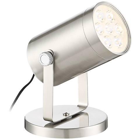 "Imperial Brushed Steel 4 1/2"" High LED Uplight"