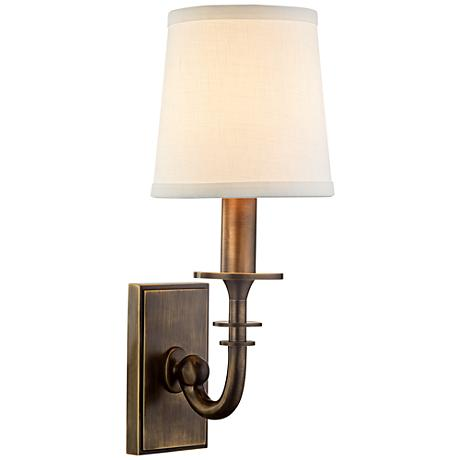 """Hudson Valley Carroll 13""""H Distressed Bronze Sconce"""